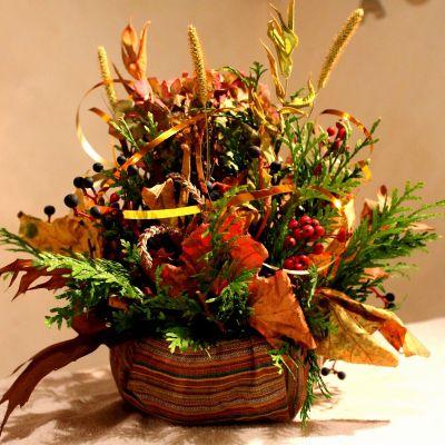 Znalezione obrazy dla zapytania jesienna ikebana